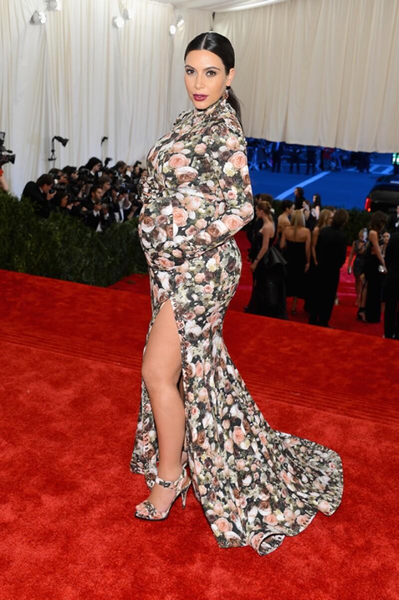 El estilo de Kim durante su embarazo fue blanco de severas críticas.