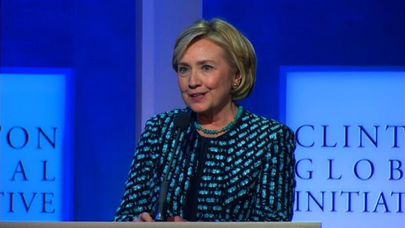 La ex secretaria de Estado de Estados Unidos Hillary Clinton