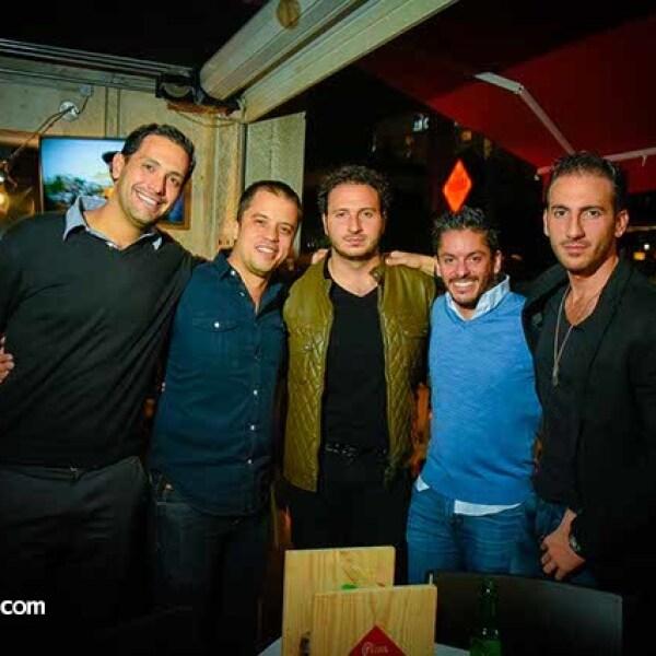 Gabriel Bejar,Martin Ortiz,Anuar Abraham,Jaime Agami y Johnny Abraham