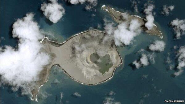 Nueva isla en Tonga.