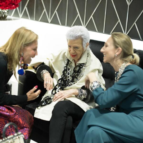 Barbara Berger, Iris Apfel y Sylvie Ligonie