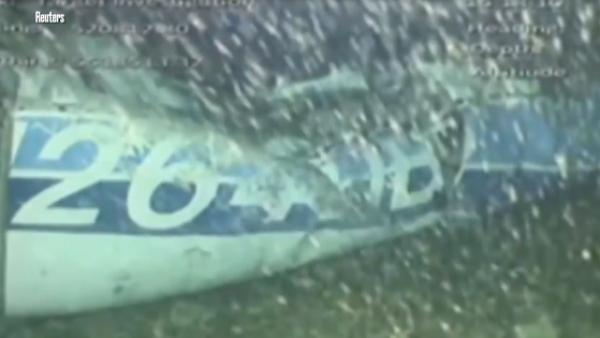Una cámara submarina capta la avioneta en que viajaba Sala