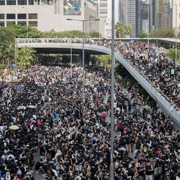 Hong Kong manifestantes calles