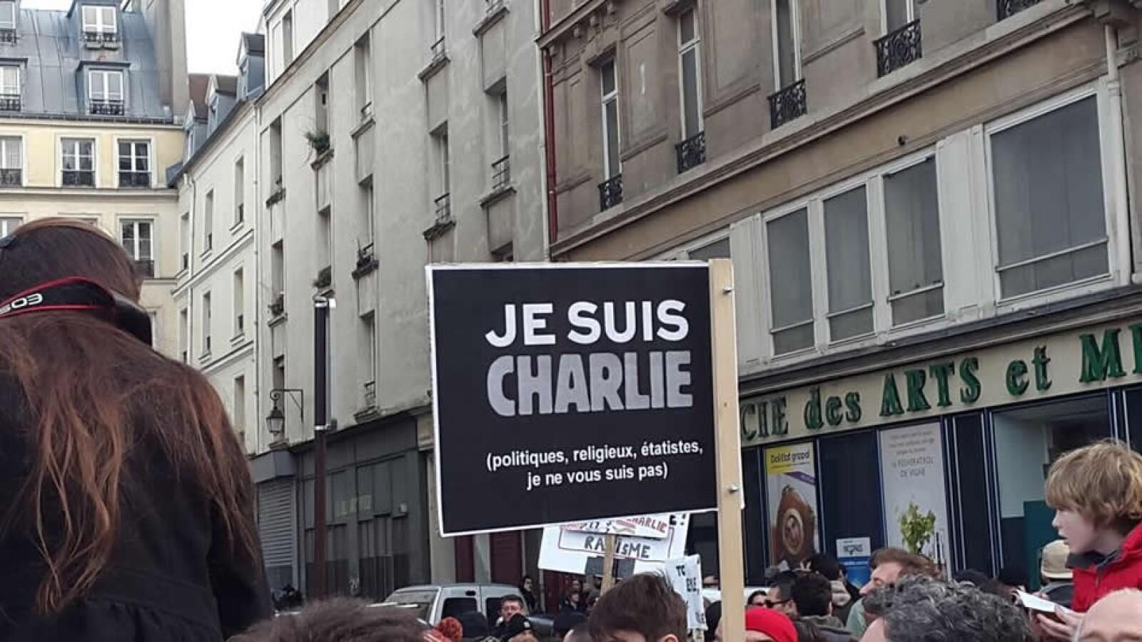Je Suis Charles pancarta