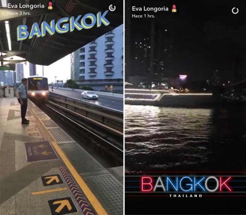 Los recién casados comenzaron su semana en Bangkok.