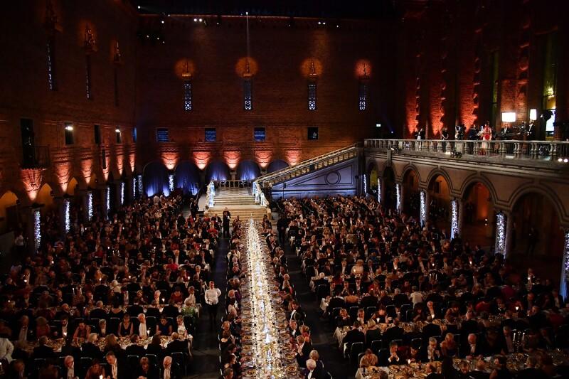 Banquete en honor al Premio Nobel