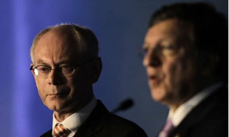 Van Rompuy (izq.) y Barroso (der.) consideraron que la prioridad de la cumbre del G20 debe ser el impulso al crecimiento económico. (Foto: Reuters)