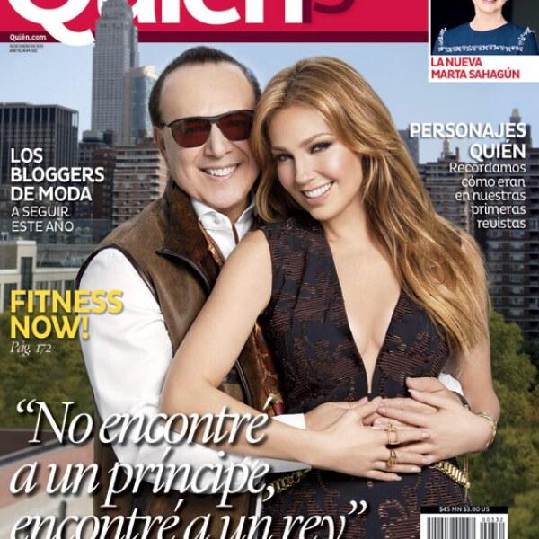 Thalía y Tommy Mottola posaron para nuestra primera edición del año, para celebrar el 15 aniversario de Quién. El cuento de hadas que hace 15 años inició Thalía hace honor a la frase