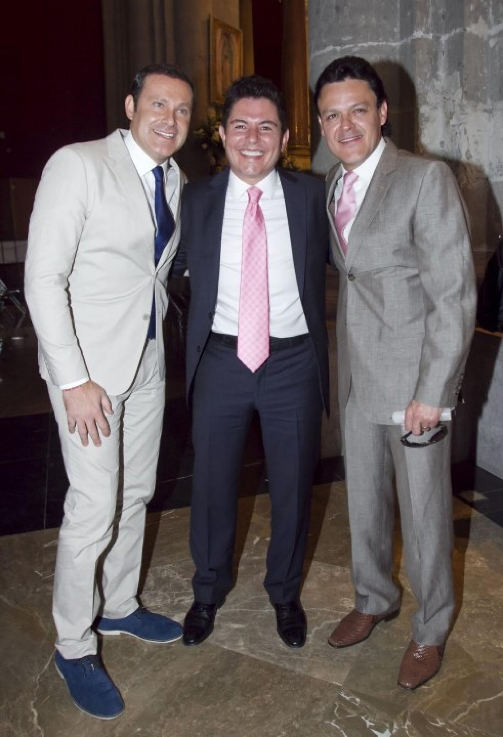 Alan Tacher, Ernesto Laguardia y Pedro Fernández.