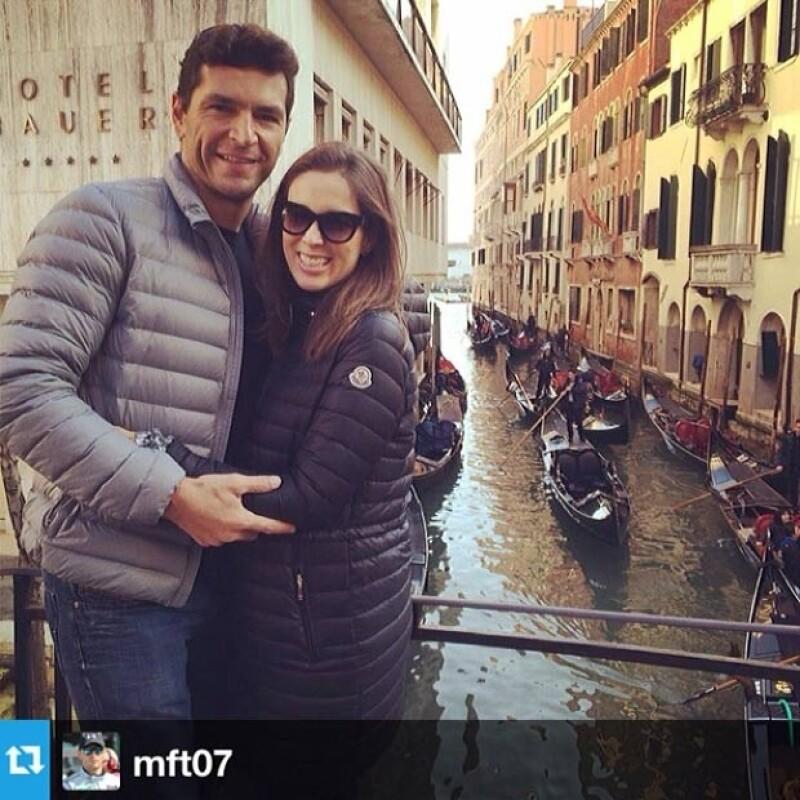 Jacky y Martín disfrutando de su segunda luna de miel en Italia.