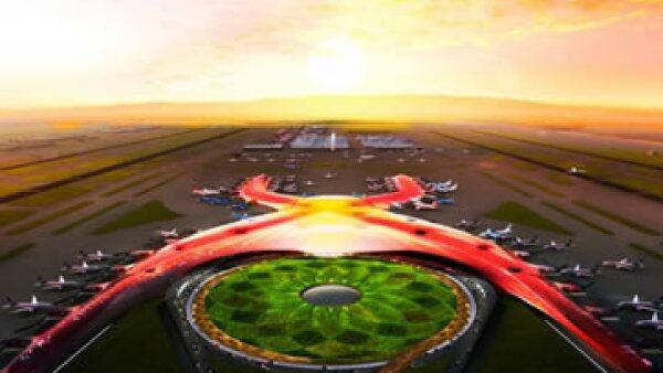 La nueva terminal será edificada al lado del actualmente saturado AICM. (Foto: Tomada de Presidencia.)