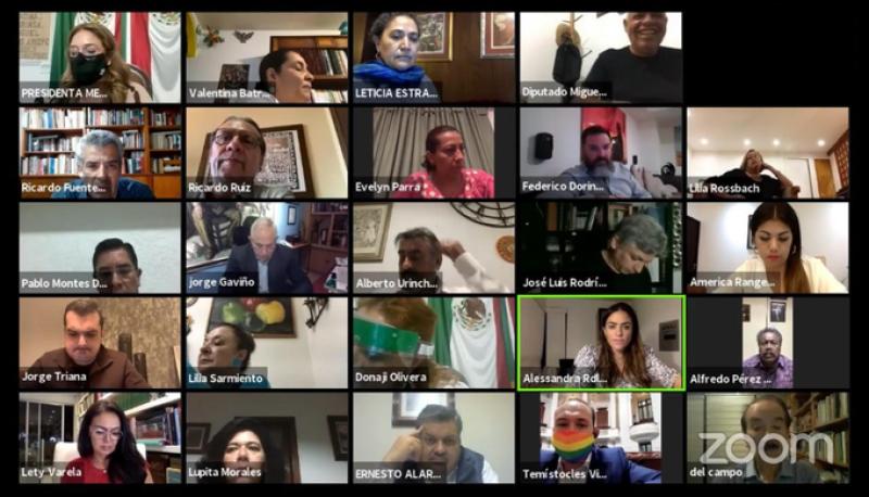 Sesión virtual en el Congreso de la CDMX
