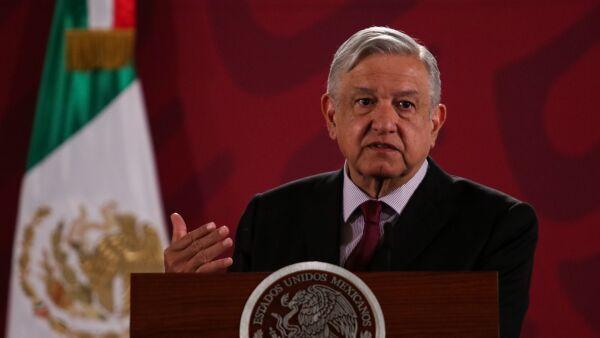 Andrés Manuel López Obrador, presidente de México, durante la conferencia.