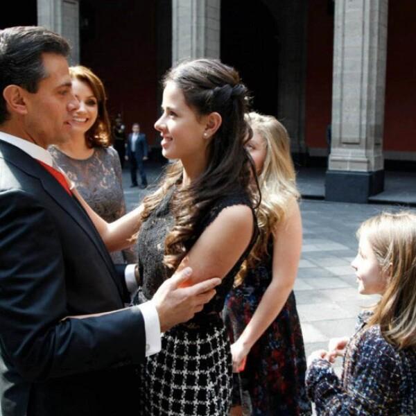 Enrique Peña Nieto y Nicole Peña.