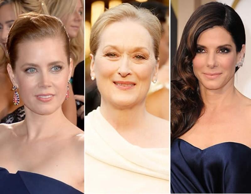 Meryl Streep luce femenina y natural.