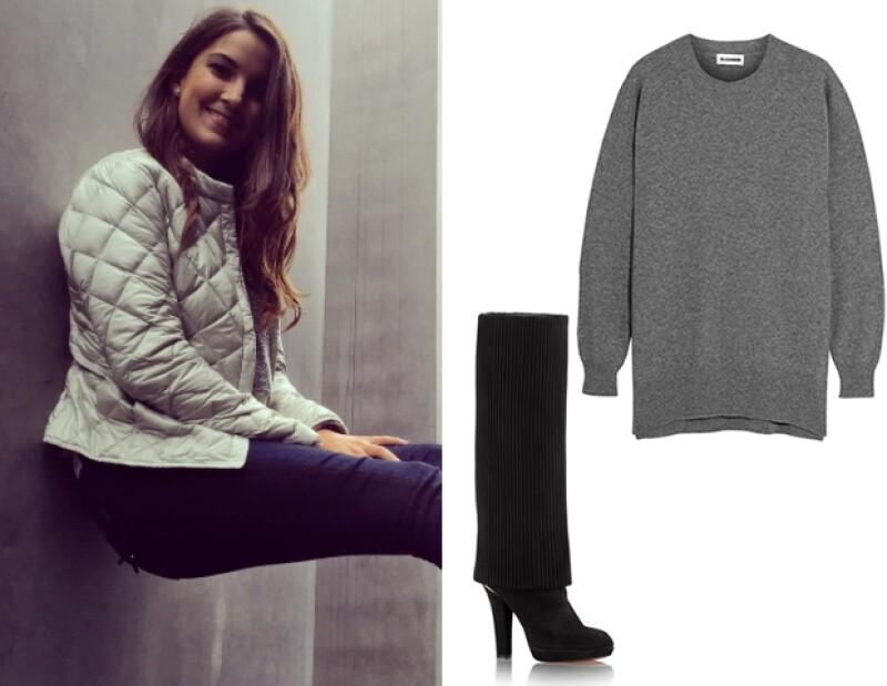 Pamela López, 19, describe su estilo como moderno y casual.