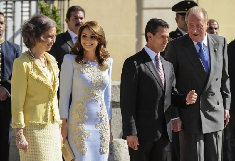 Angélica Rivera tuvo la oportunidad de platicar con la Reina Sofía.