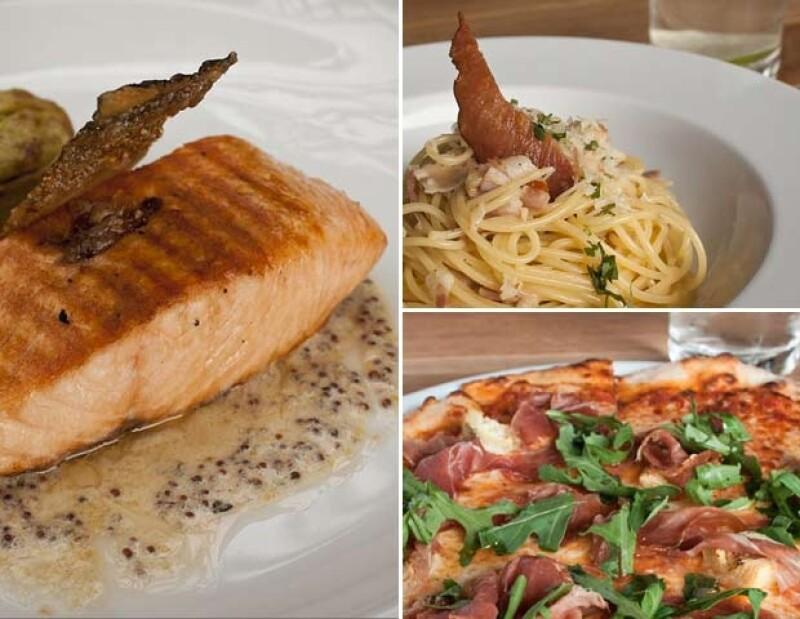 Platillos italianos fusionados con la cocina contemporánea.