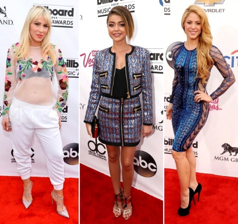 Natasha Bedingfield, Sarah Hyland y Shakira nos decepcionaron con sus looks.