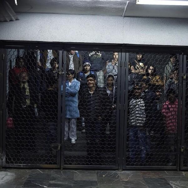 Una estación del Metro fue cerrada como medida de precaución ante los actos violentos