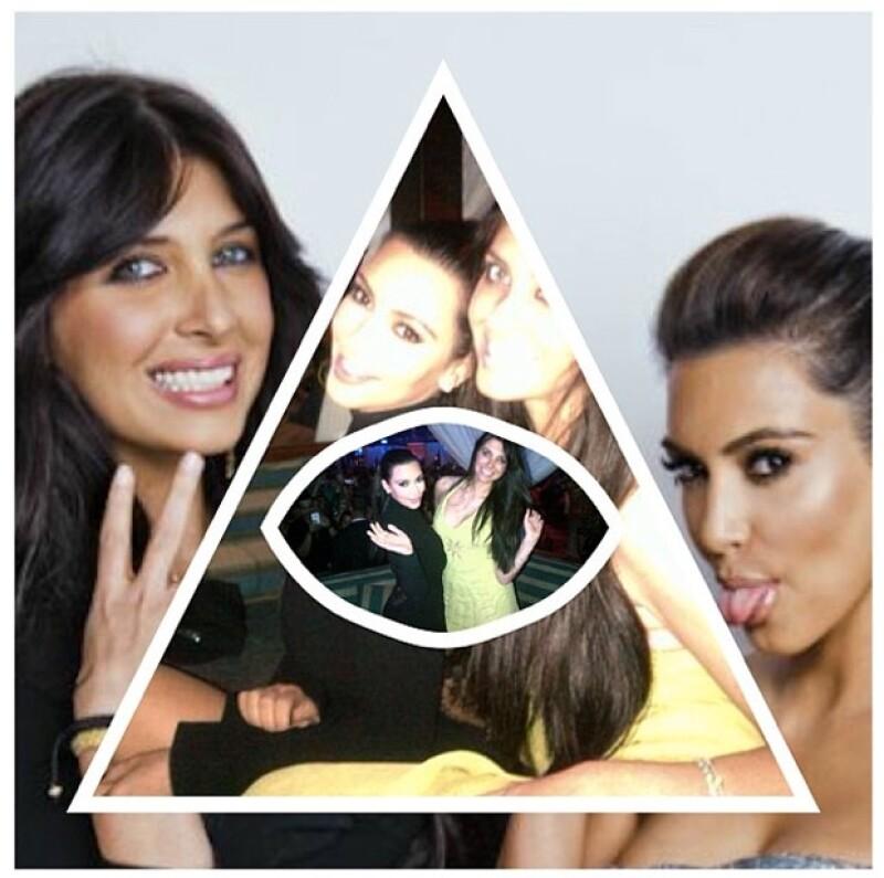 Kim también le dedicó una foto a su mejor amiga con motivo de su cumpleaños.
