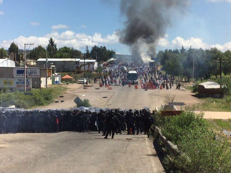 Enfrentamiento en Nochixtlán