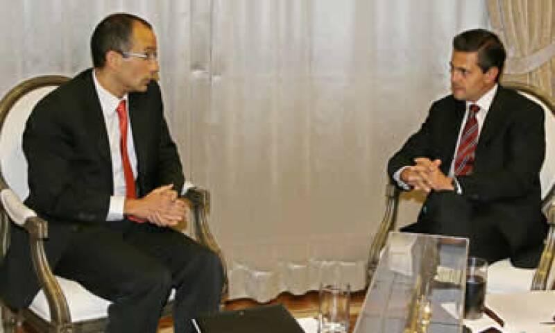 El presidente Peña Nieto se reunió con el empresario Marcelo Odebrecht. (Foto: Notimex)