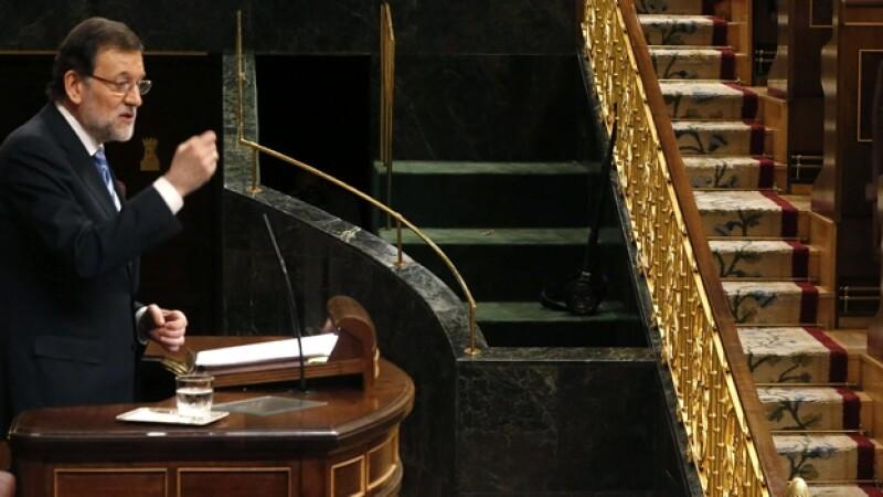mariano rajoy durante el debate sobre el estado