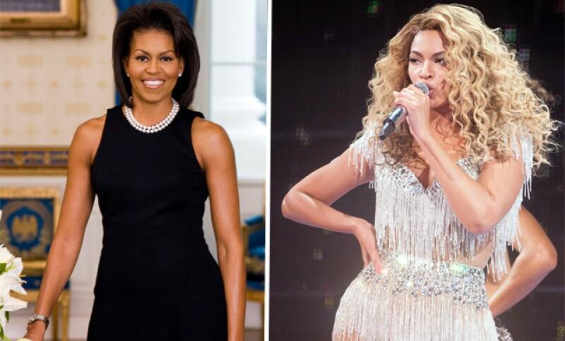 La primera dama de EU, Michelle, y sus hijas, Sasha y Malia, se encontraban en Revel Resorts para el concierto, el primero de Beyoncé desde que dio a luz a su hija Blue Ivy en enero.