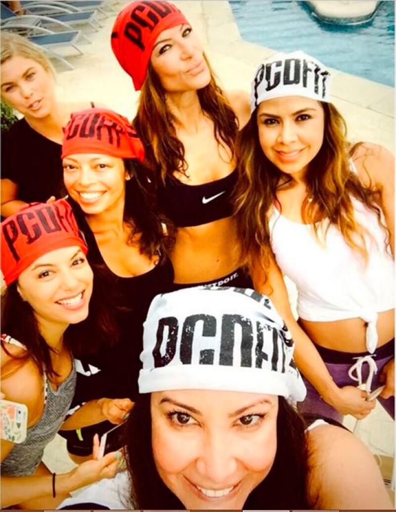 La actriz se dijo agradecida con sus amigas por su estancia en Cancún.