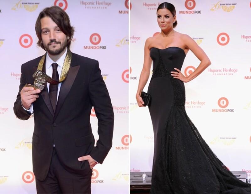 Diego Luna y Eva Longoria también fueron galardonados.