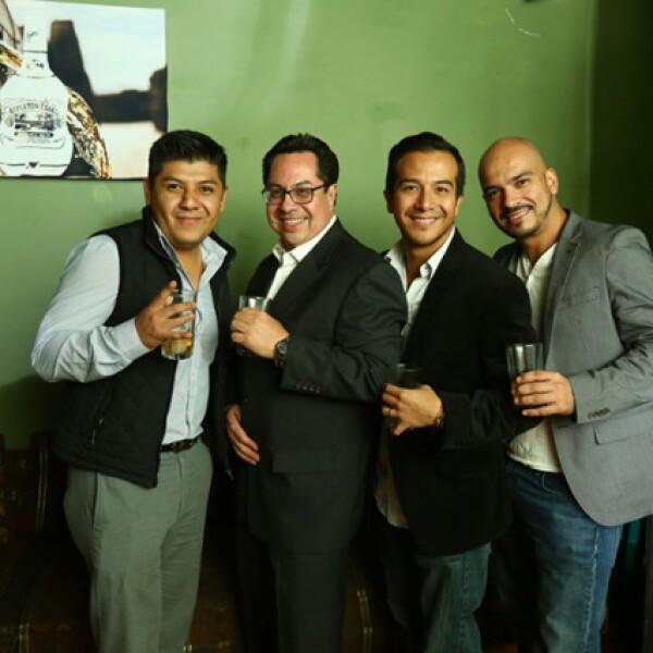 Aldo López,Armando Moreno,Alberto Mendoza y Héctor Aragón