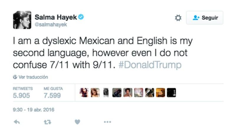 Esto fue lo que escribió la actriz en su cuenta de Twitter.