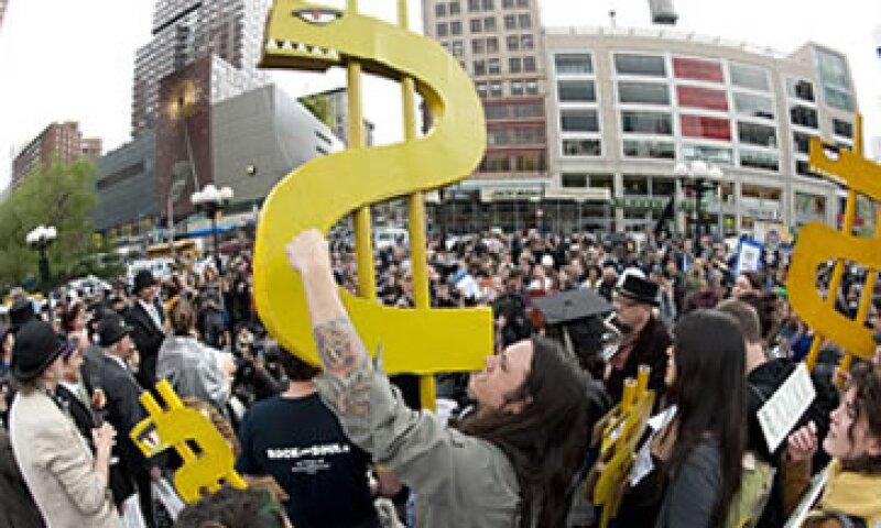 Las protestas de Occupy Wall Street no lograron ser un movimiento masivo como la Primavera Árabe. (Foto tomada de finance.fortune.cnn.com)