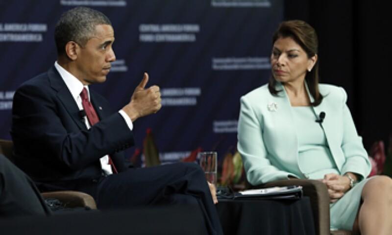 El presidente Barack Obama y su homóloga de Costa Rica, Laura Chinchilla, durante el foro. (Foto: Reuters)