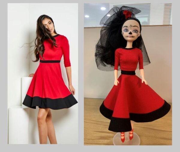 Recrean vestido de Beatriz Gutiérrez para una muñeca 3.jpg