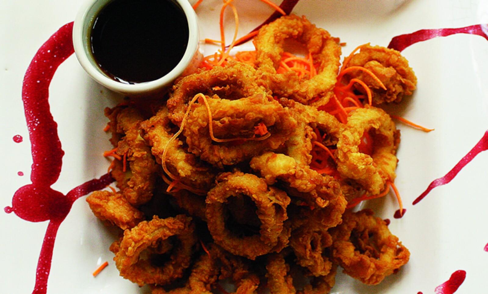 Los calamares en el Café San Pedro se pueden disfrutar al aire libre a cualquier hora del día.