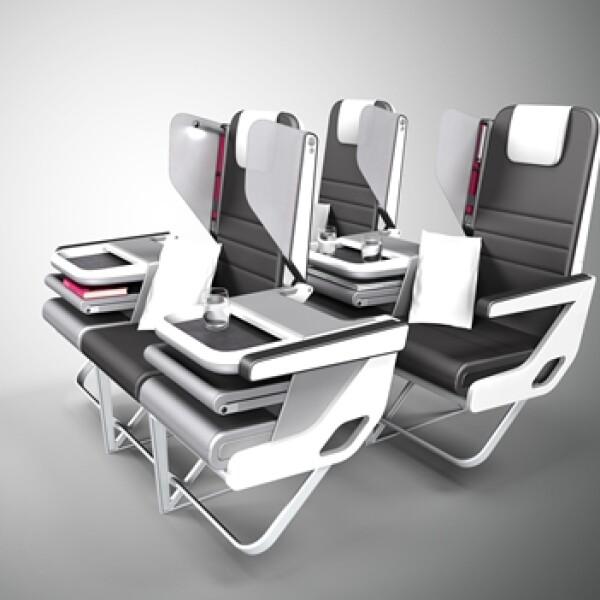 paperclip design checkerboard asientos convertibles aviones