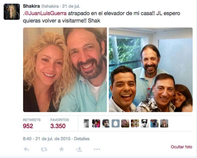 Con este tuit, varios de los fans tanto de Shakira como de Juan Luis Guerra, se emocionaron por la posibilidad de que pudieran estar trabajando juntos en un nuevo disco.