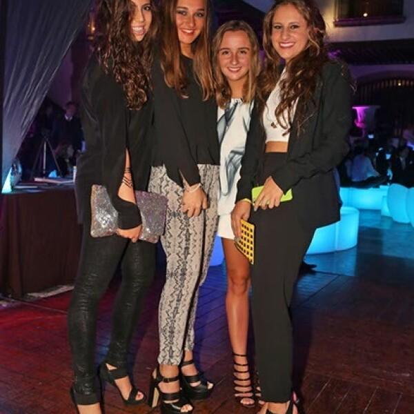 María Sarraf, Isabel Conesa, Ana Tricio y Daniela Escobar