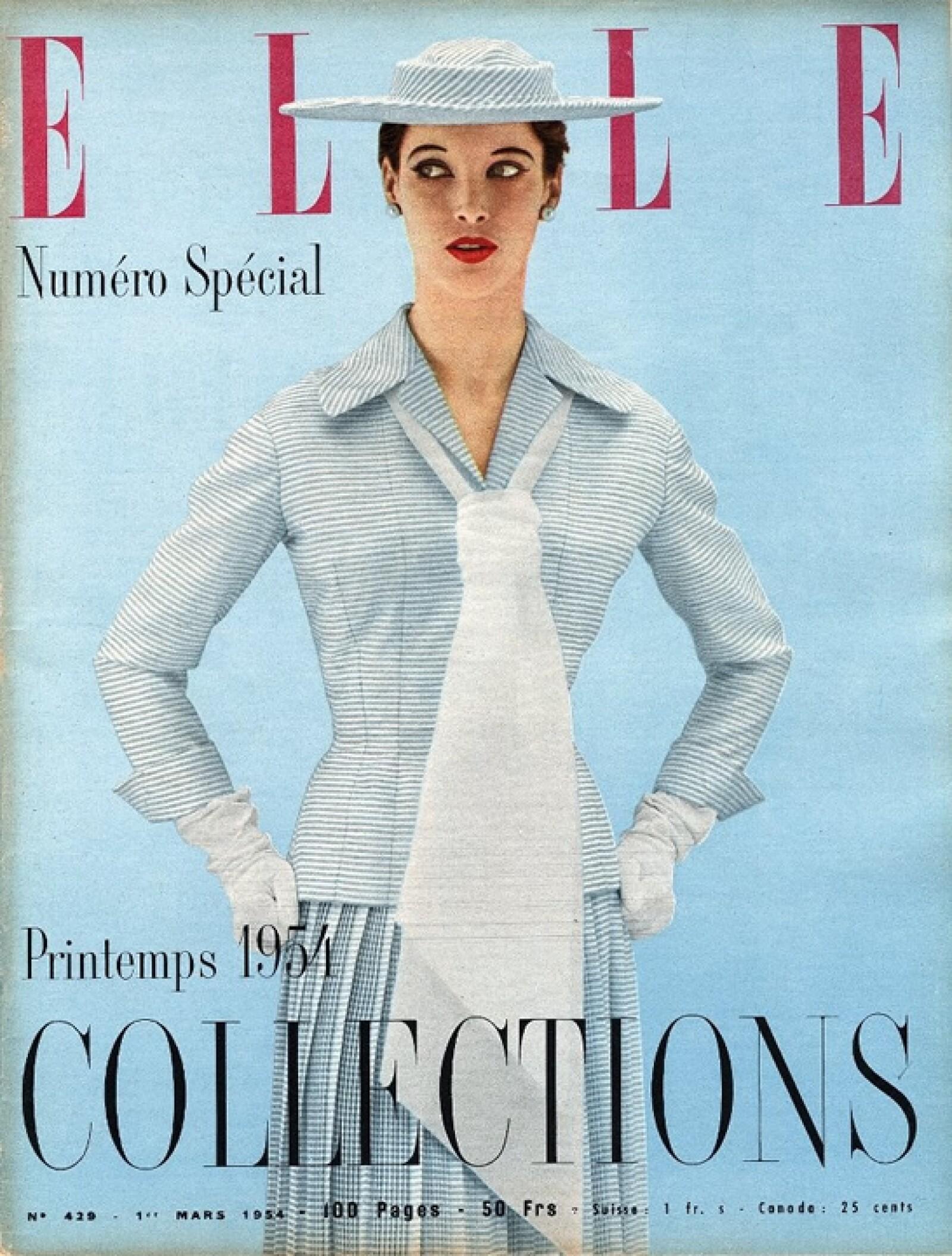ELLE, marzo 1954, edición francesa.