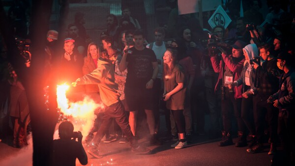 Manifestaciones en Quebec