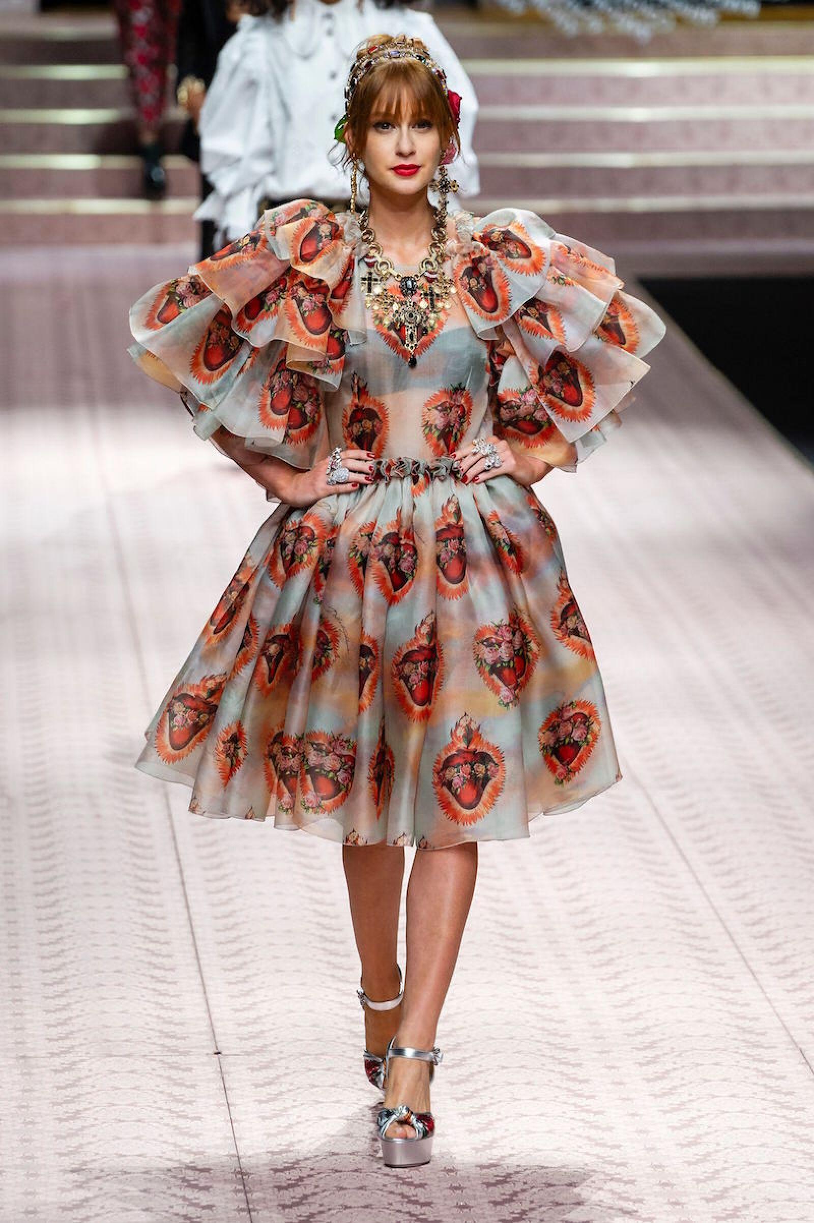 Dolce & Gabbana show, Runway, Spring Summer 2019, Milan Fashion Week, Italy - 23 Sep 2018