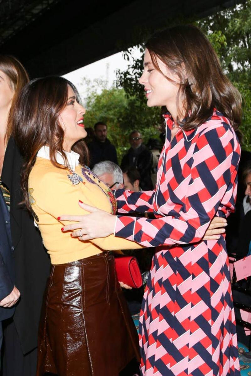 La actriz y la royal se saludaron efusivamente al verse.
