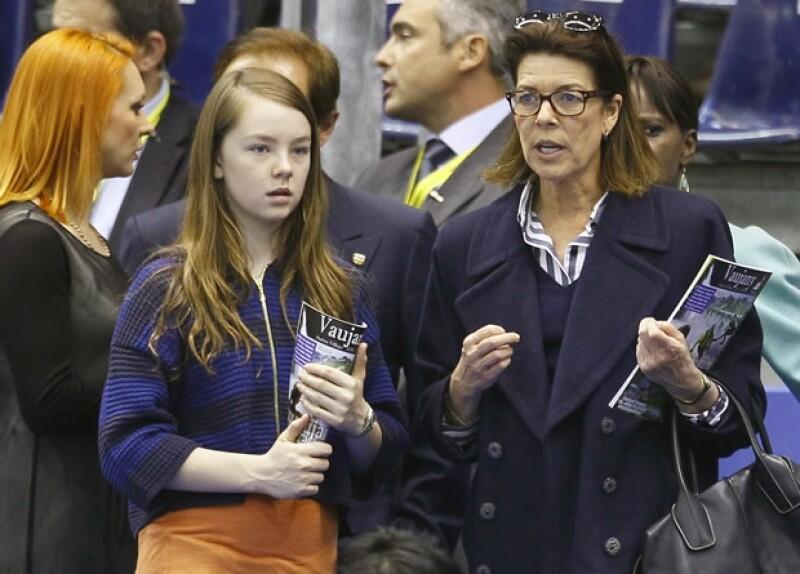 La Princesa y su hija menor estuvieron en Niza para el Campeonato Mundial de figuras de Patinaje y es que la hija de Carolina es aficionada a este deporte.