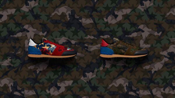 Sneakers con estilo militar