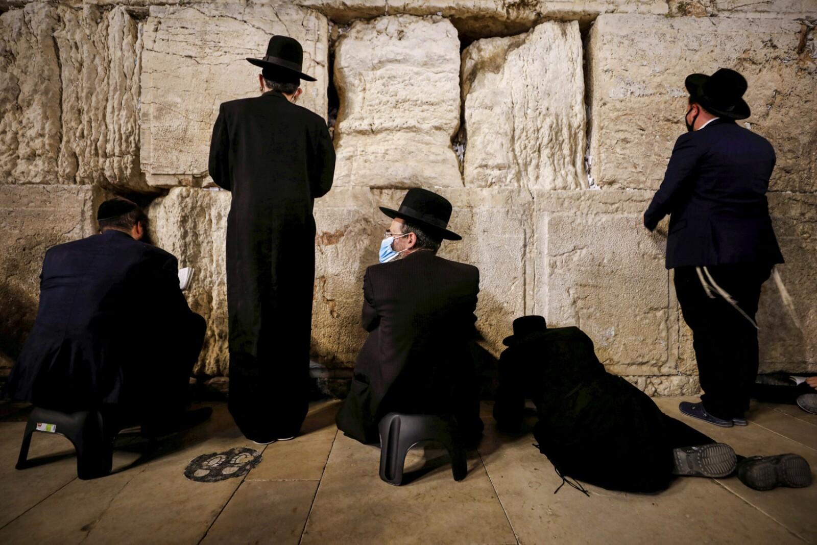 Jews mark Tisha B'Av commemoration of destruction of First and Second Temples, amid the coronavirus disease (COVID-19) outbreak, in Jerusalem