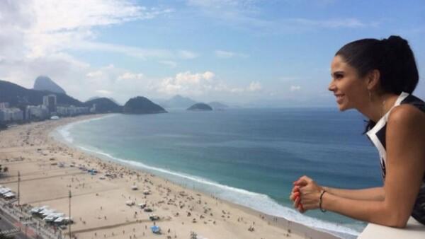 A días de viajar a Brasil, la periodista comparte la importancia de que sus hijos tengan gusto por el deporte, en gran parte gracias a su esposo Luis Roberto Alves.