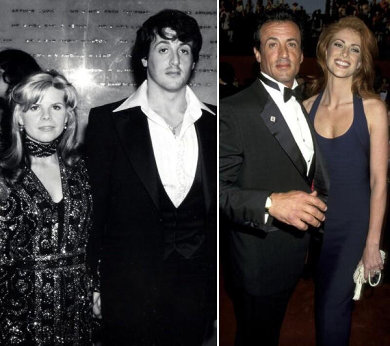 Sylvester Stallone en 1995 y en 1997.
