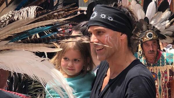 Valentino Lanús y su hija María Magdalena